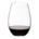 closeup of Riedel O stemless wine glass