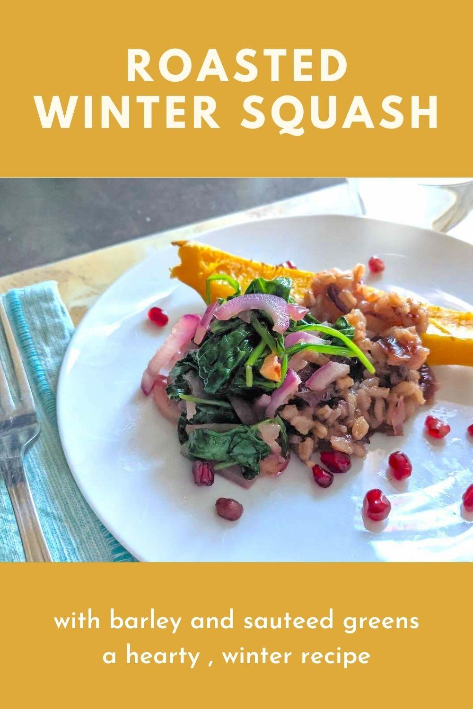 roasted winter squash recipe graphic
