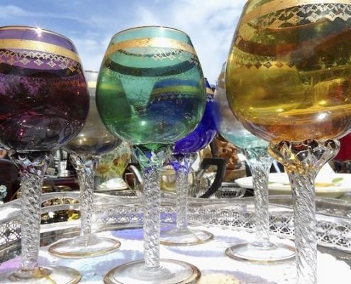 Wine Glasses in Jewel Tones