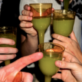 group enjoying absinthe at a party