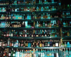 do drinks - bottles on a bar