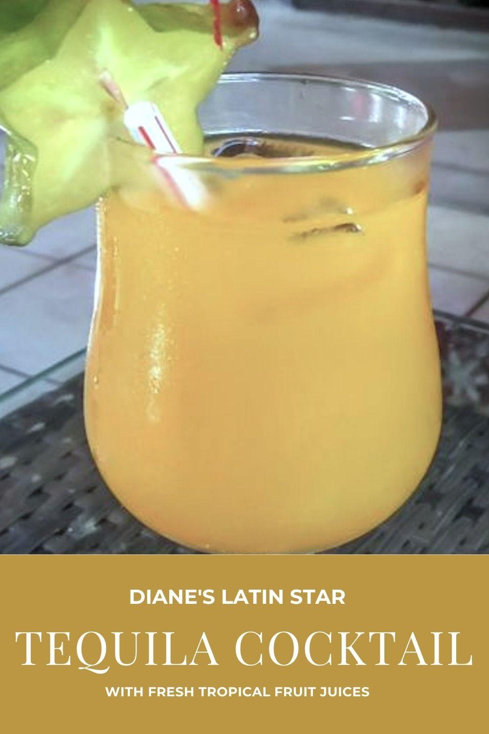 Diane's Latin Star Tequila Cocktail Graphic