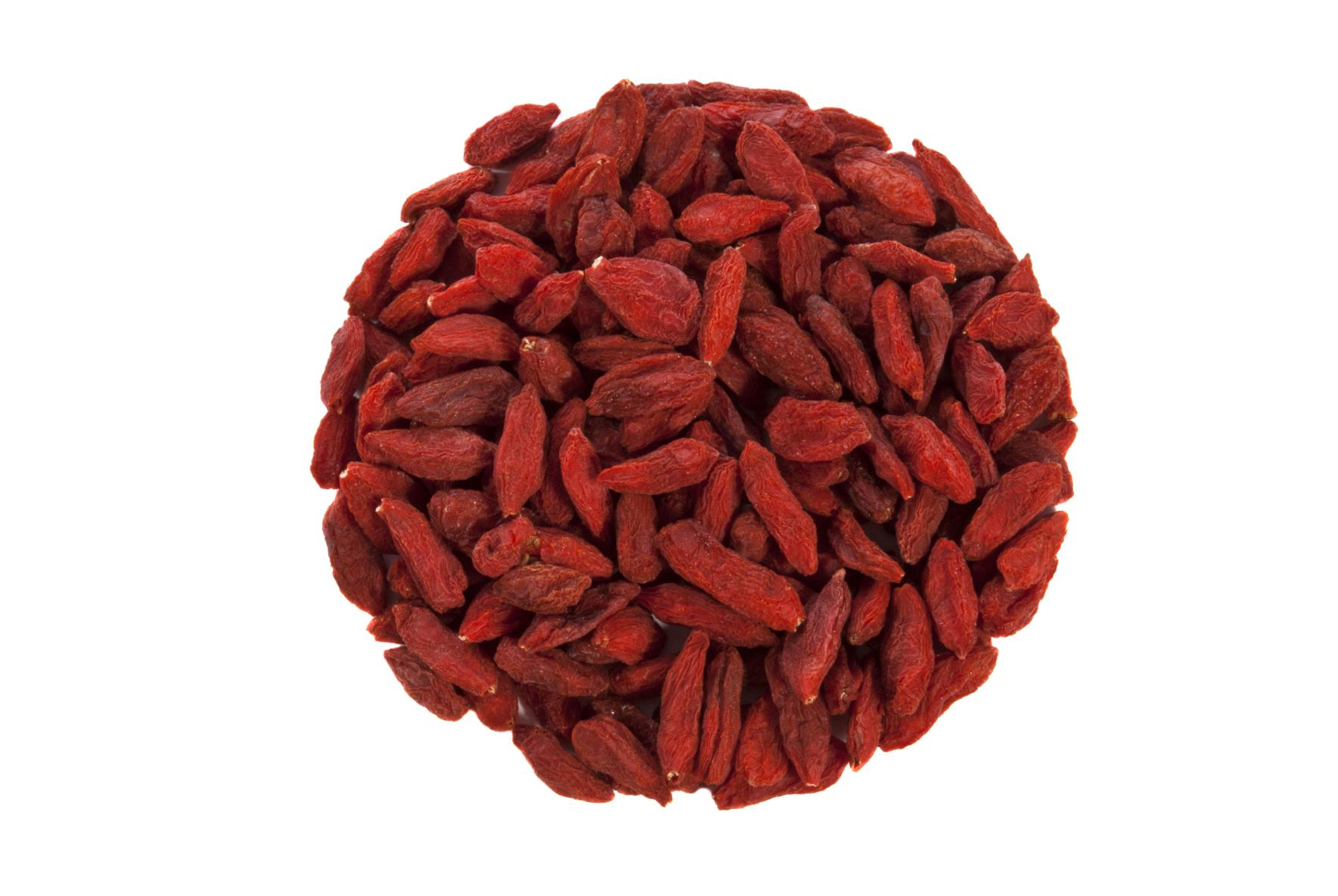 closeup of goji berries or wolfberries