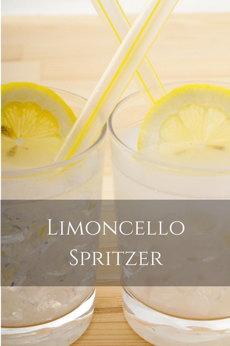 Limoncello Spritzer -- an easy, Limoncello cocktail recipe