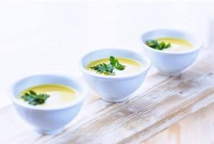Aphrodisiac Peach Gazpacho from Fork Me, Spoon Me: the sensual cookbook