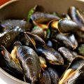 Steamed Mussels in White Wine Tarragon Broth--so easy