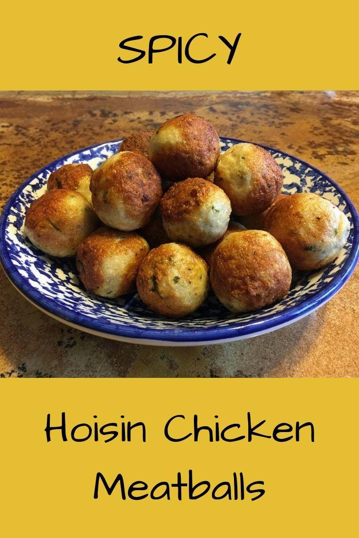 Hoisin Chicken Meatballs Pinnable Graphic