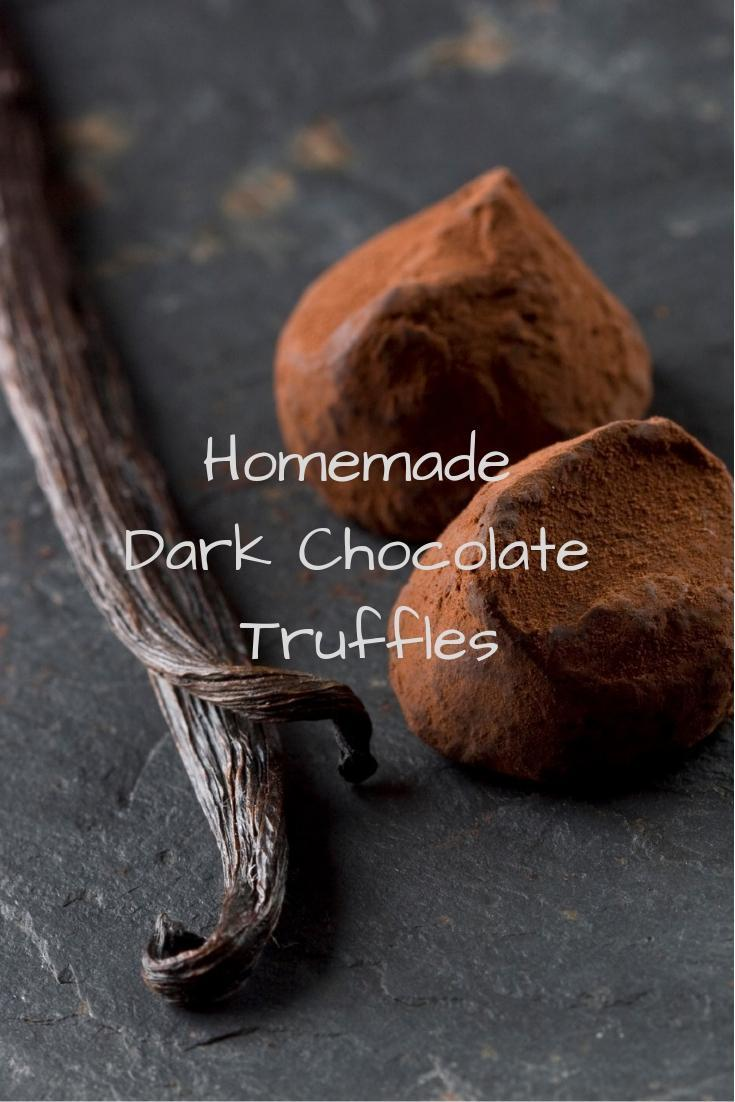 Homemade Dark Chocolate Truffles Pinnable Graphic