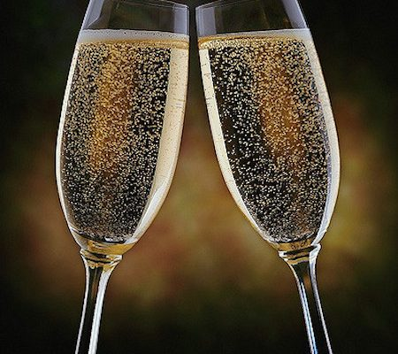 The Easiest Champagne Cocktail Ever - forget hiring a bartender, wow your guests with this incredibly easy Champagne cocktail. It's the perfect drink for a special toast.