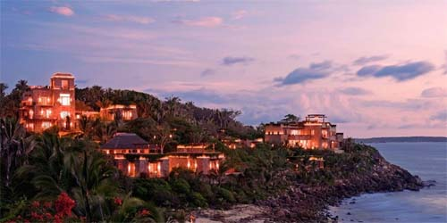 Mexico Travel at Imanta Resort pictured at sunset