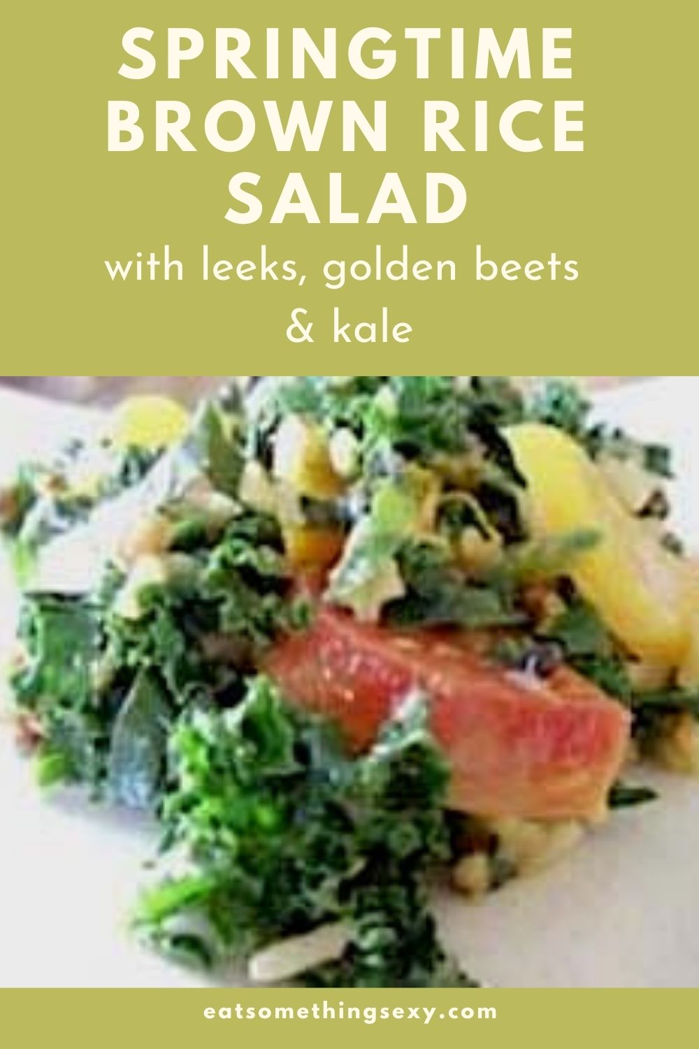 Brown Rice Salad with Leeks, Golden Beets and Kale graphic