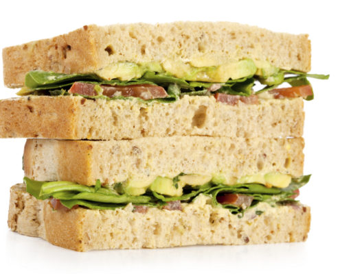 tomato and avocado picnic sandwiches