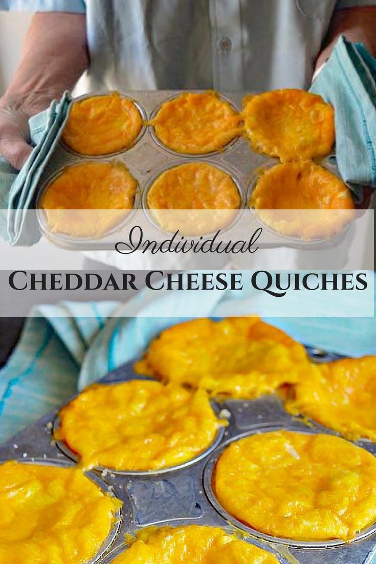 Individual Cheddar Quiche Bites