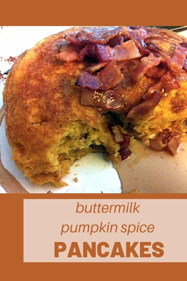 pumpkin spice pancakes pinnable graphic