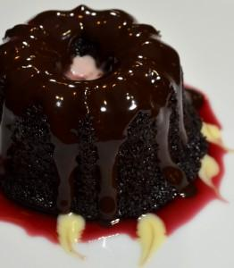 Chrysta Wilson's chocolate and pomegranate bundt cake