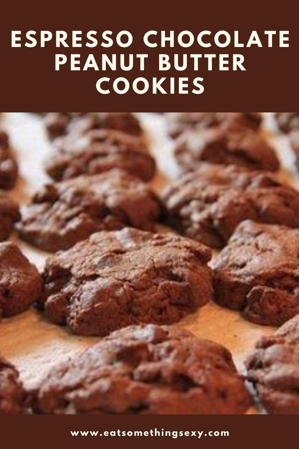 Espresso Chocolate peanut butter chip cookies graphic
