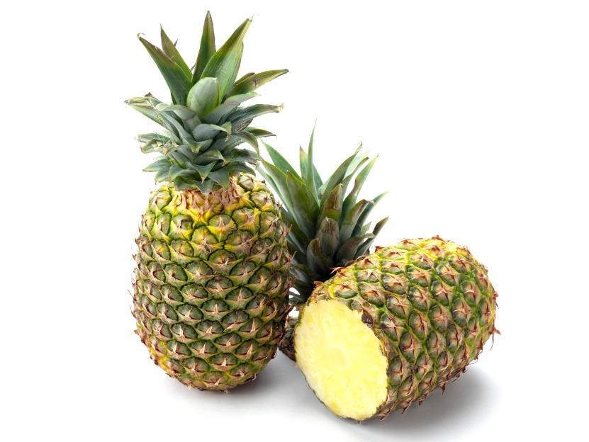 The benefits of pineapple closeup image of the fruit