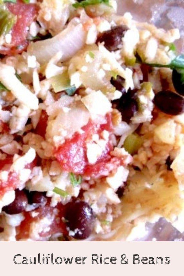 Easy Cauliflower Rice and Beans