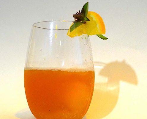 Annette Tomei's bourbon lemonade with a twist