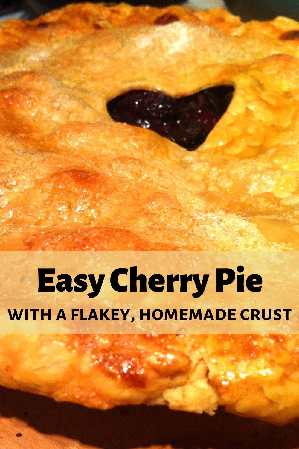 Easy Cherry Pie Pinnable Graphic