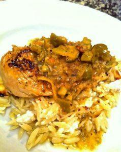 Easy Braised Chicken Breast with Orzo | EatSomethingSexy.com