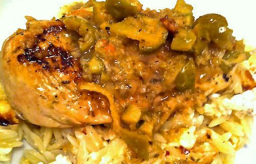 Easy Chicken Breast with Orzo | EatSomethingSexy.com