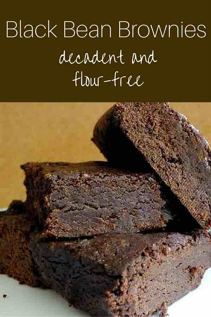 Black Bean Chocolate Brownies--flour-free and so delicious