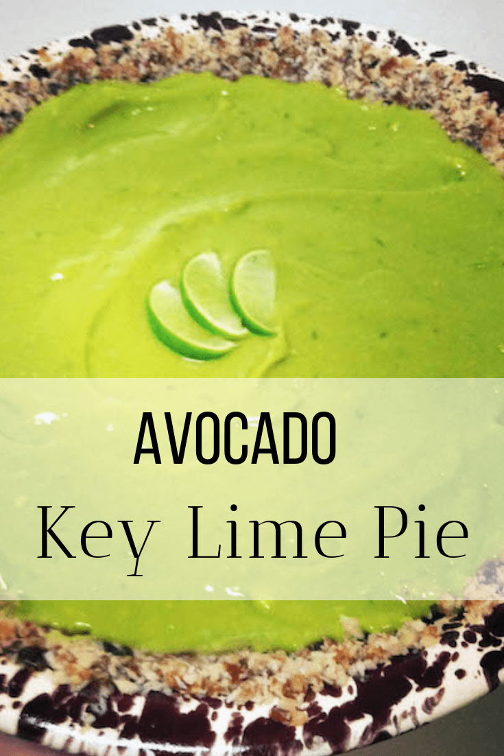healthy key lime pie pinnable graphic
