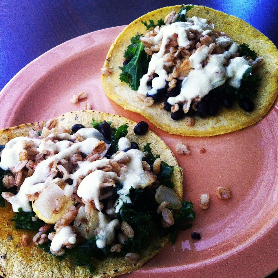 Vegetable Tacos with Cashew Cheese