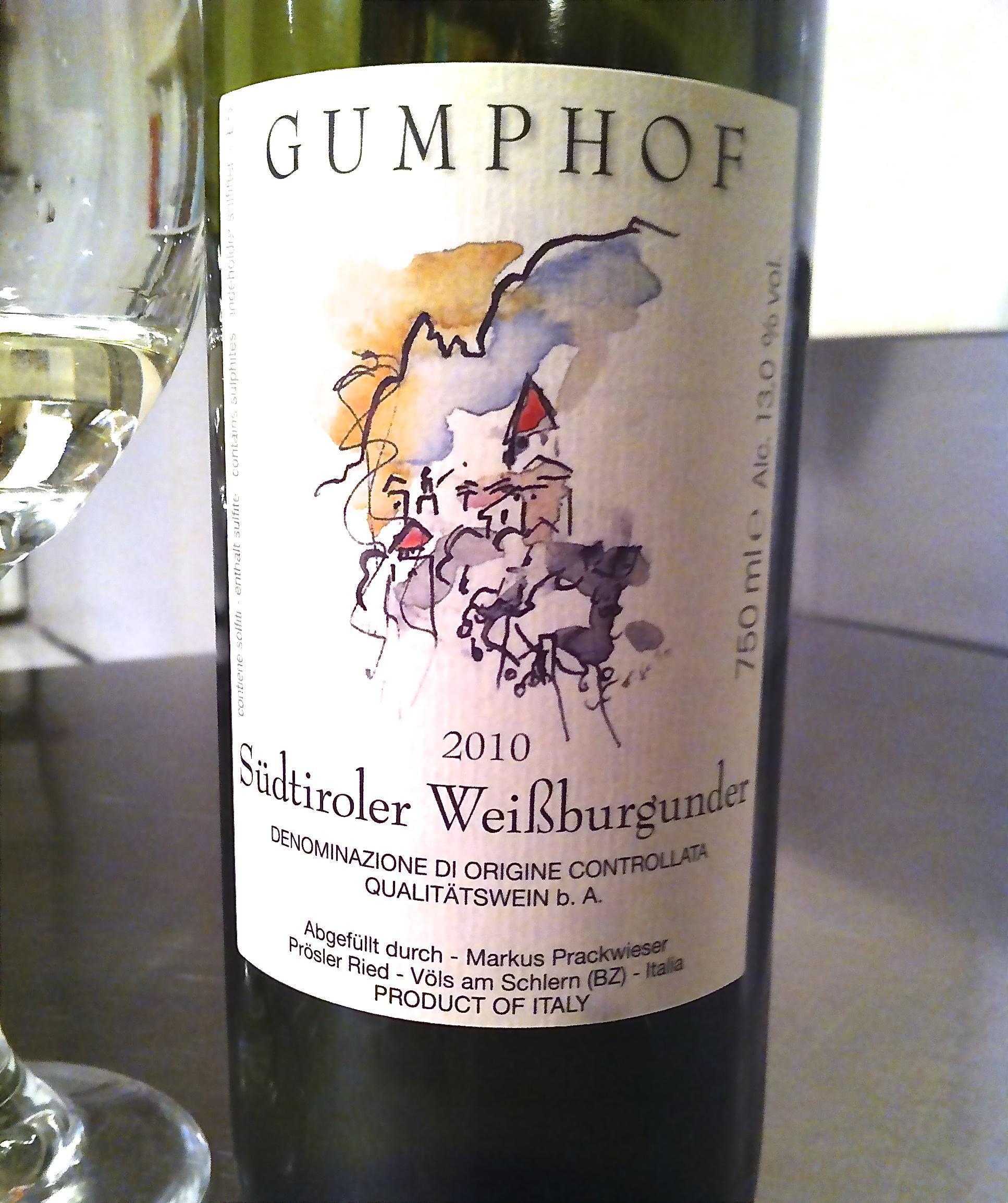 2010 Gumphof Weissburgunder