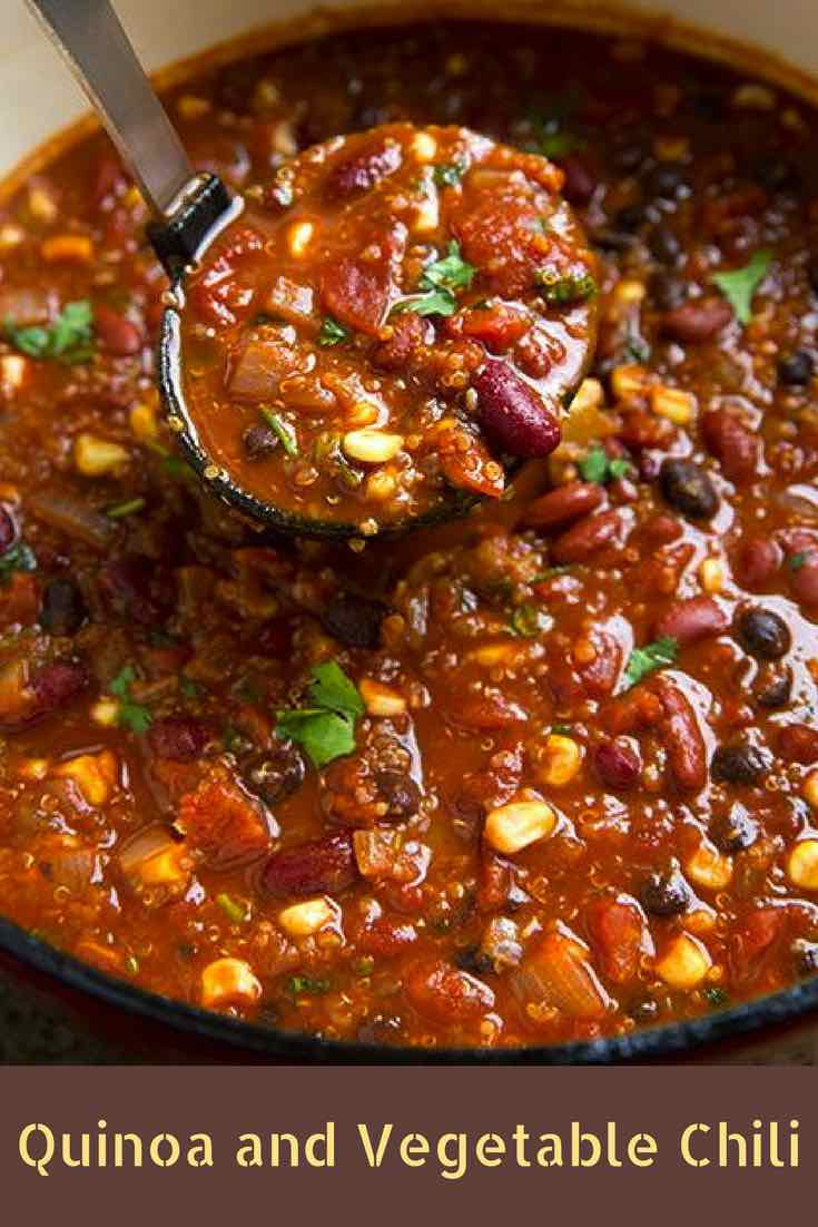 Quinoa and Vegetable Chili - hearty without the meat