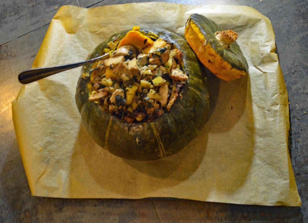 Vegetarian Roasted Stuffed Kabocha Squash Recipe