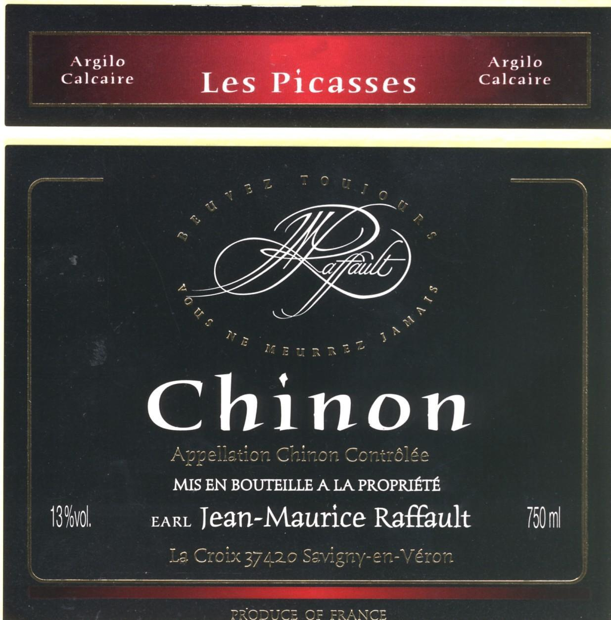 Jean-Maurice Raffault Les Picasses Chinon 1