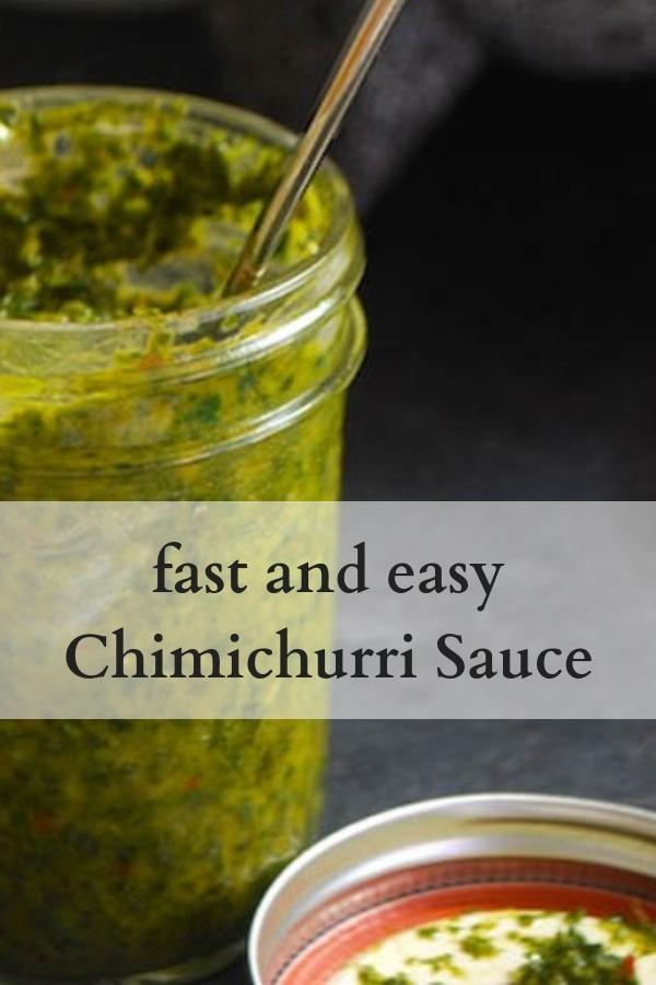 fast and easy Chimichurri Sauce recipe