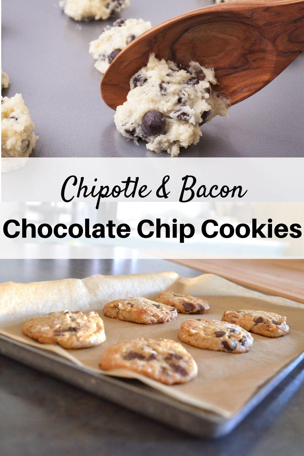 Chipotle and Bacon Chocolate Chip Cookies Pinnable Graphic