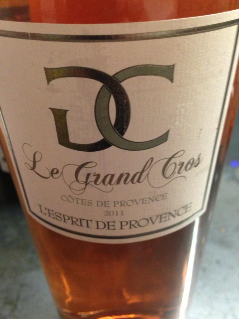 2011 Le Grand Cros L Esprit De Provence Cuv 233 E Ros 233 C 244 Tes