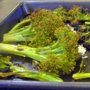 Roasted Broccoli with Black Garlic | EatSomethingSexy.com