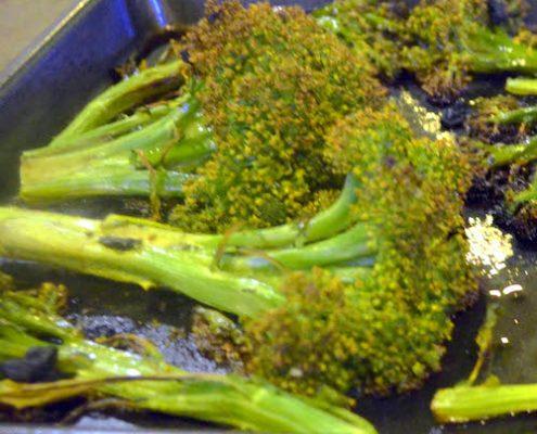 Roasted Broccoli with Black Garlic   EatSomethingSexy.com