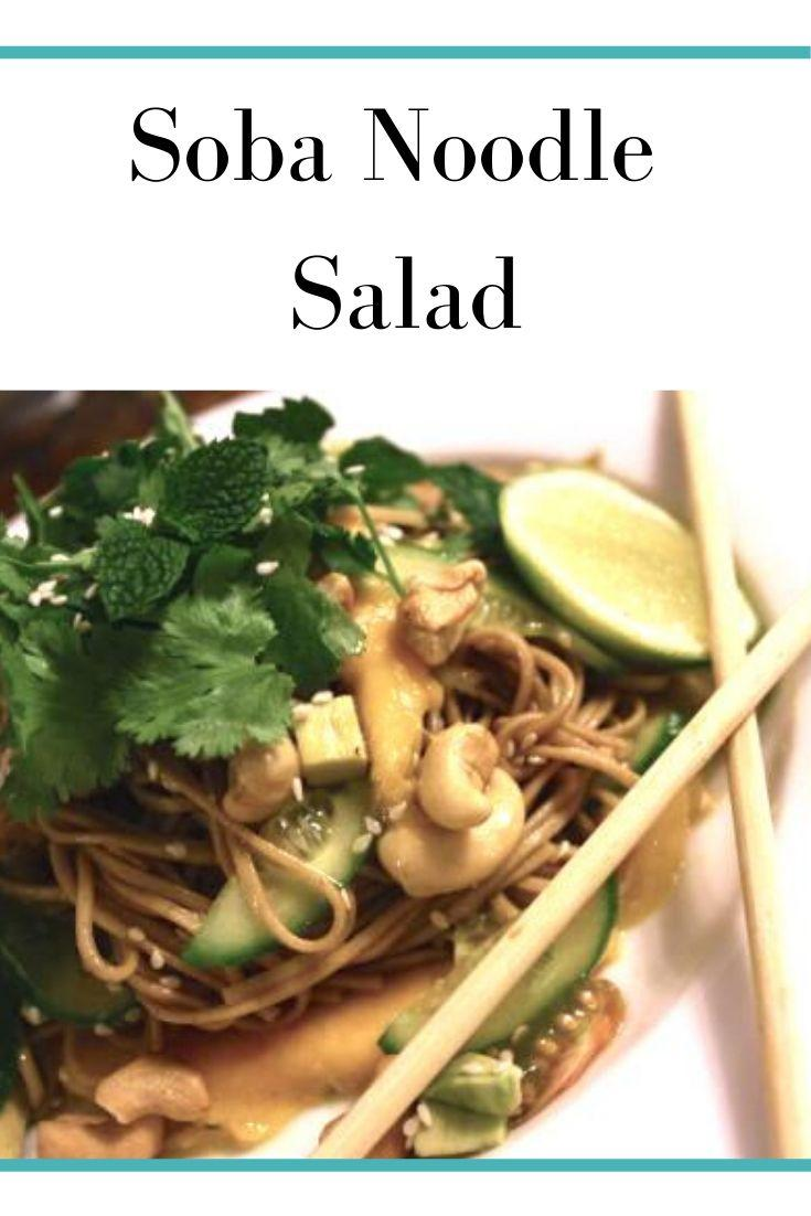 Soba Noodles Salad Pinnable Graphic