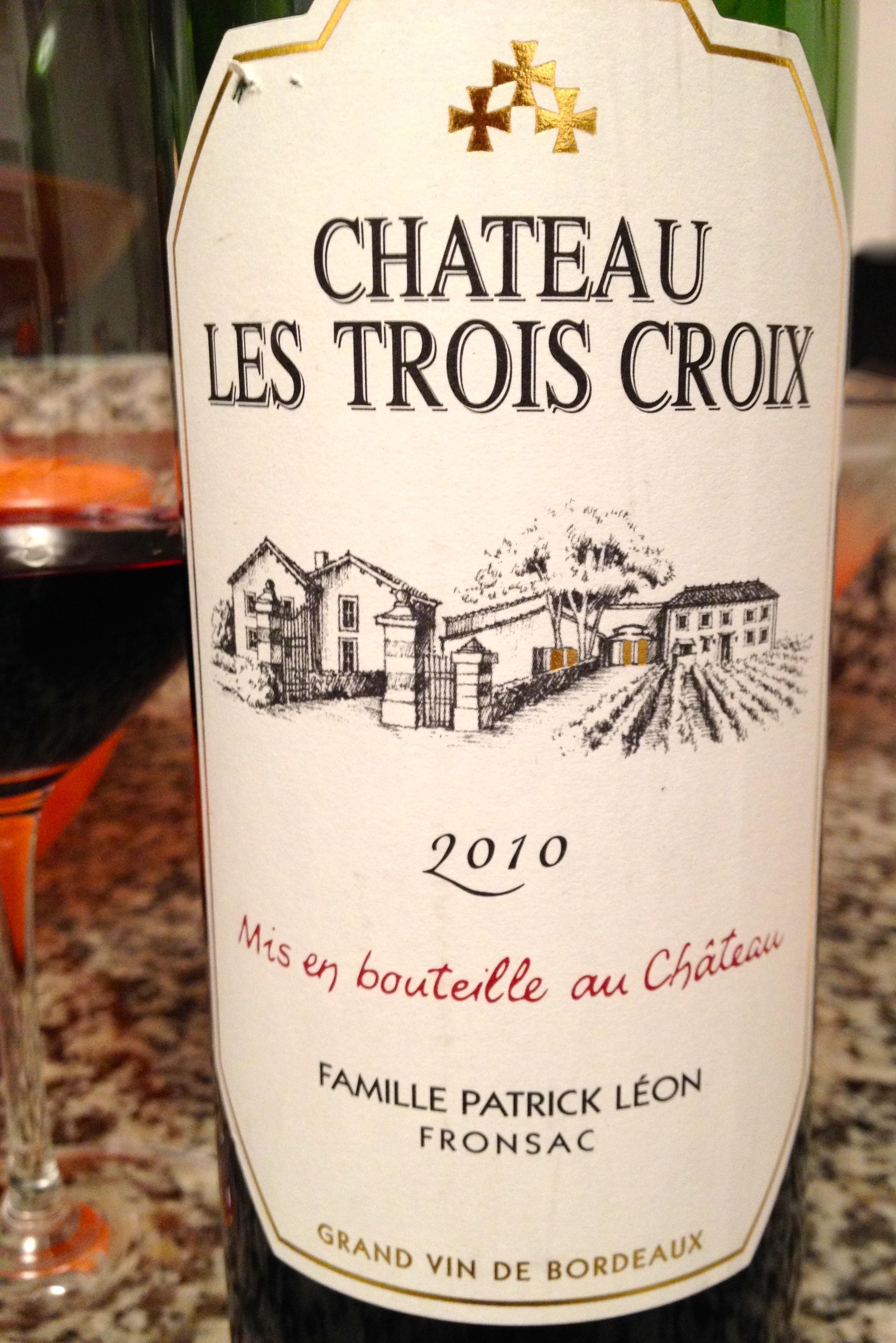 Chateau Les Trois Croix, Fronsac, Grand Vin de Bordeaux 2