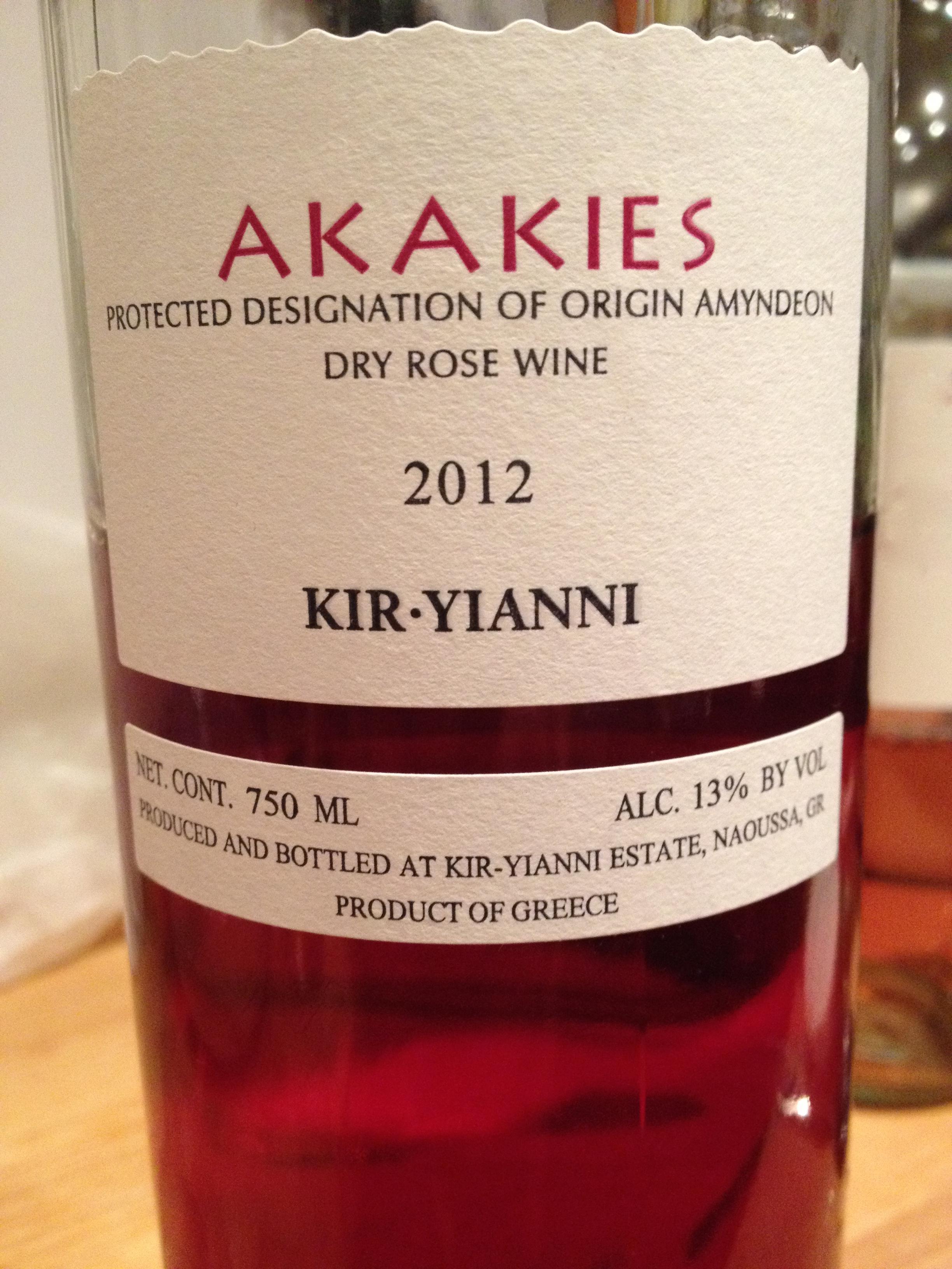 2012 Kir-Yianni Akakies, Rosé, Amyndeon, Greece