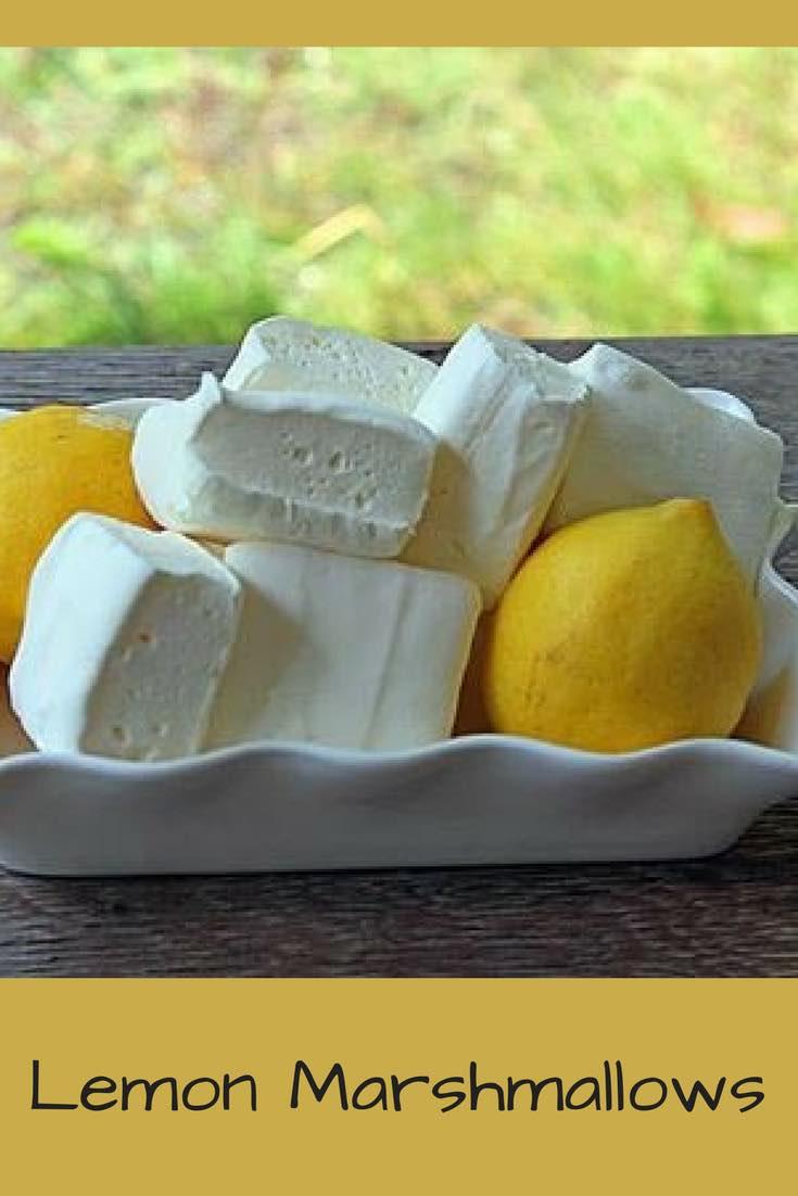 Homemade Lemon Marshmallows-
