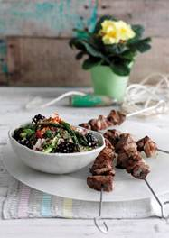 grilled lamb with quinoa salad