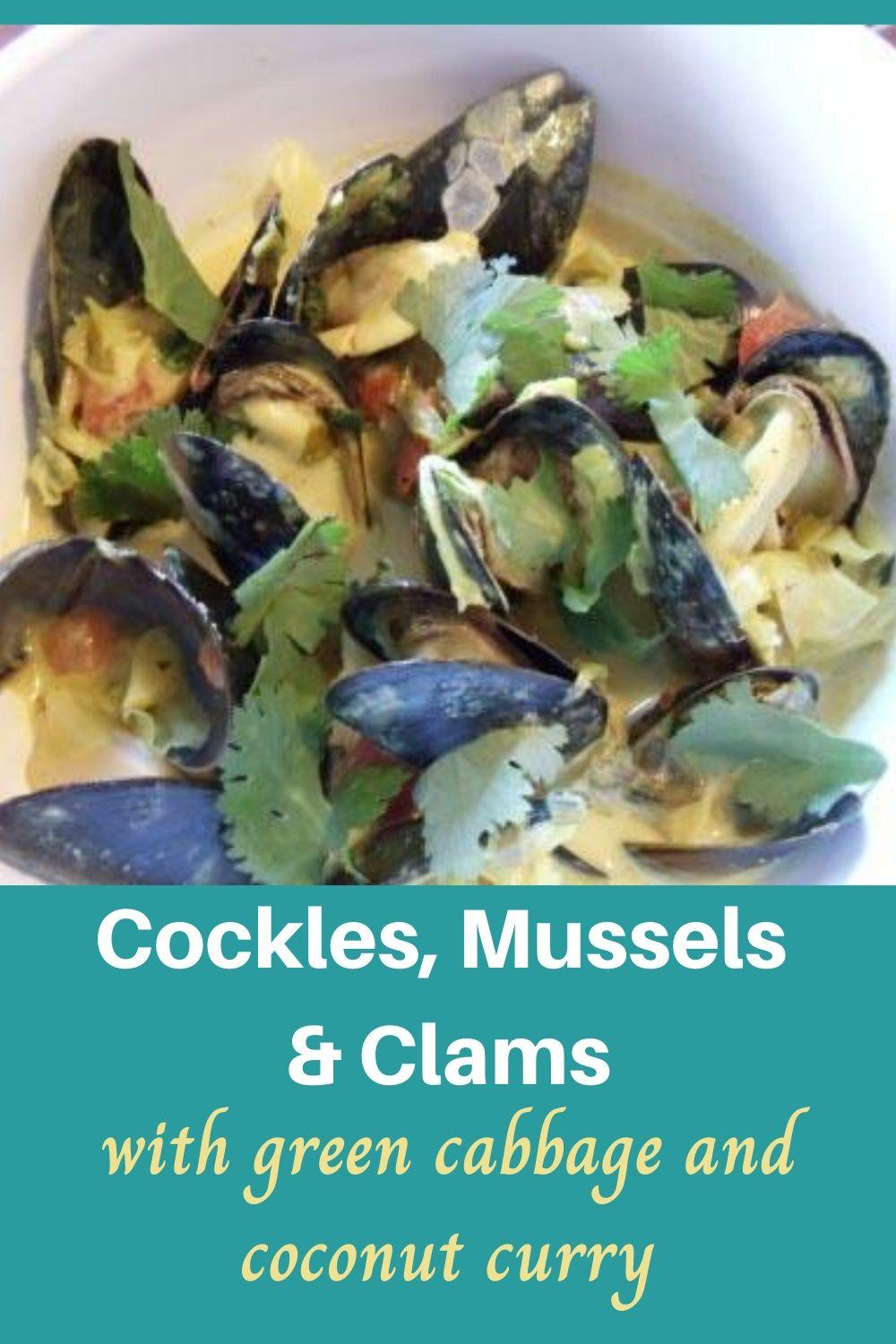 Recipe for Cockles, Mussels and Clams with Cabbage and Coconut Curry