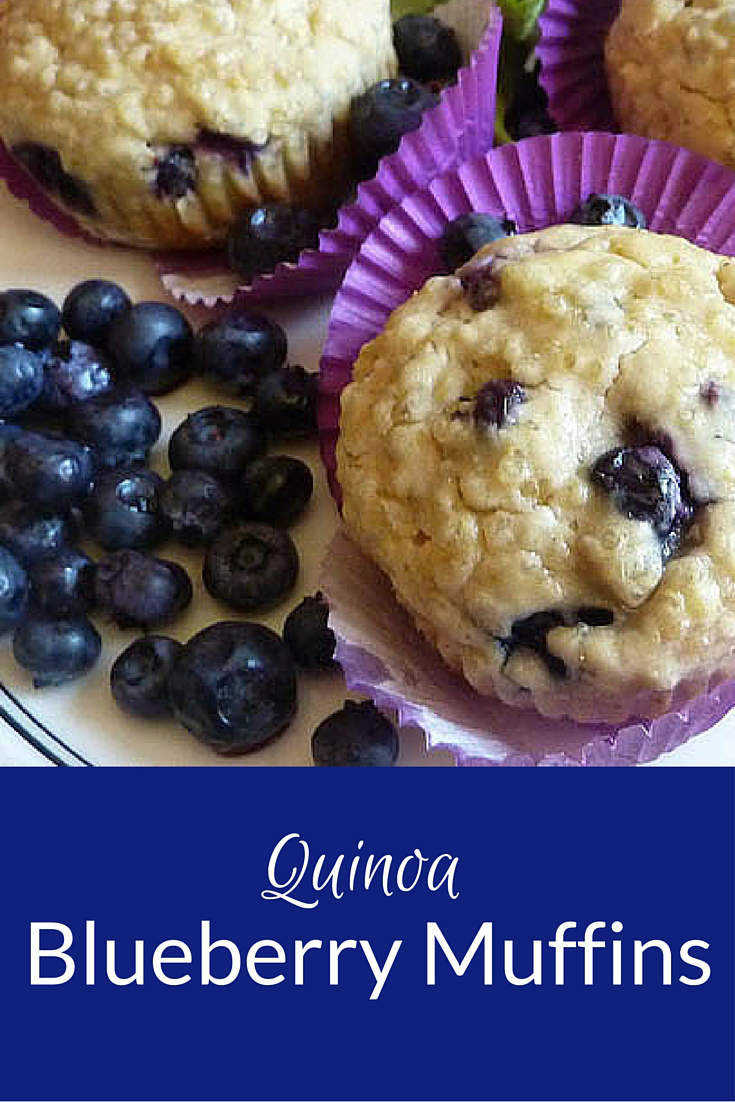 Blueberry Muffins with the added boost of quinoa