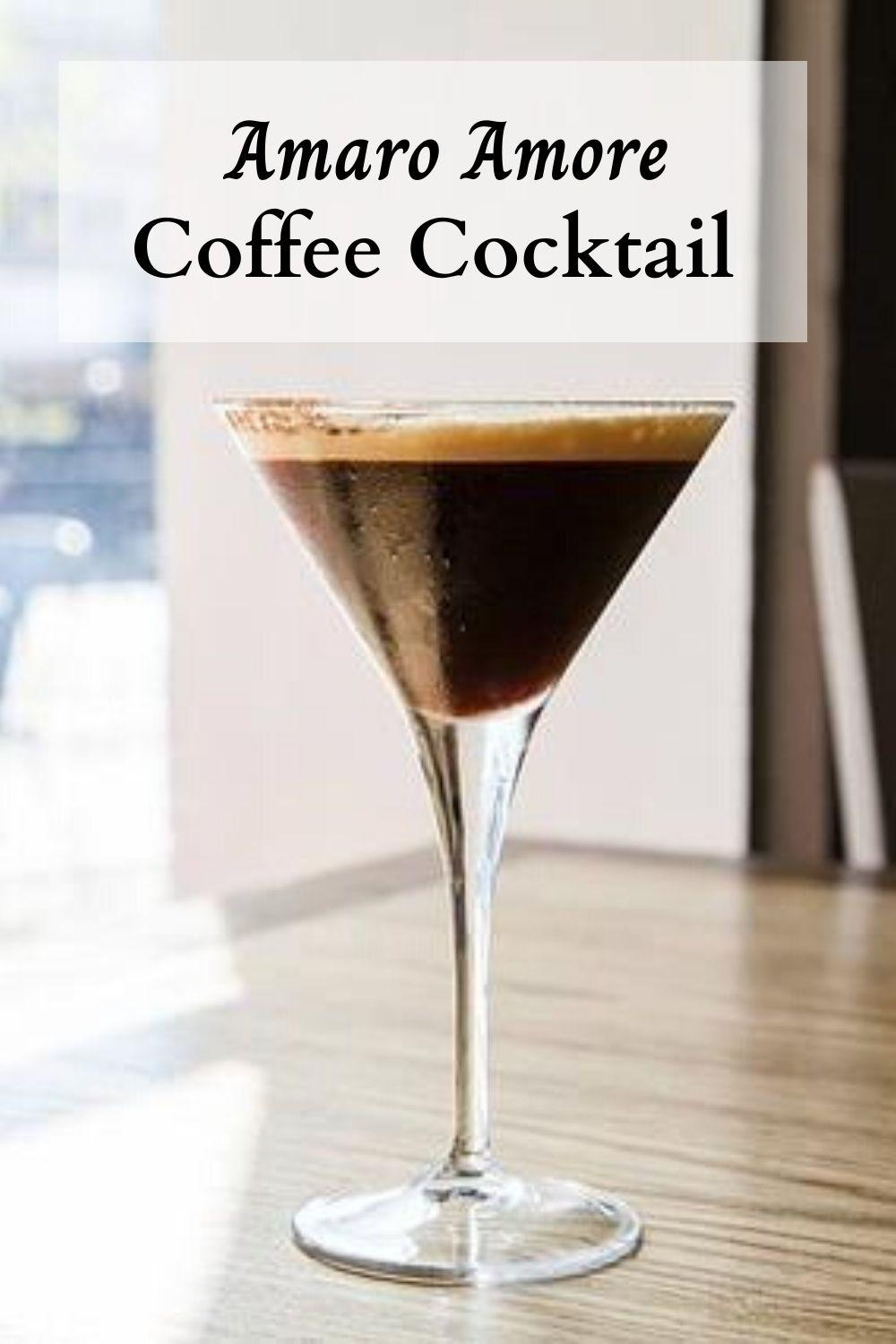 Amaro Amore Coffee Cocktail