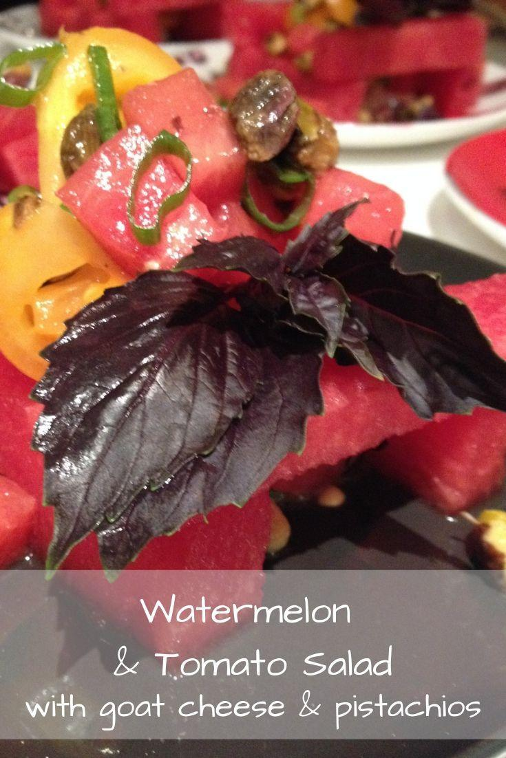 Watermelon and Tomato Salad Pinnable Graphic