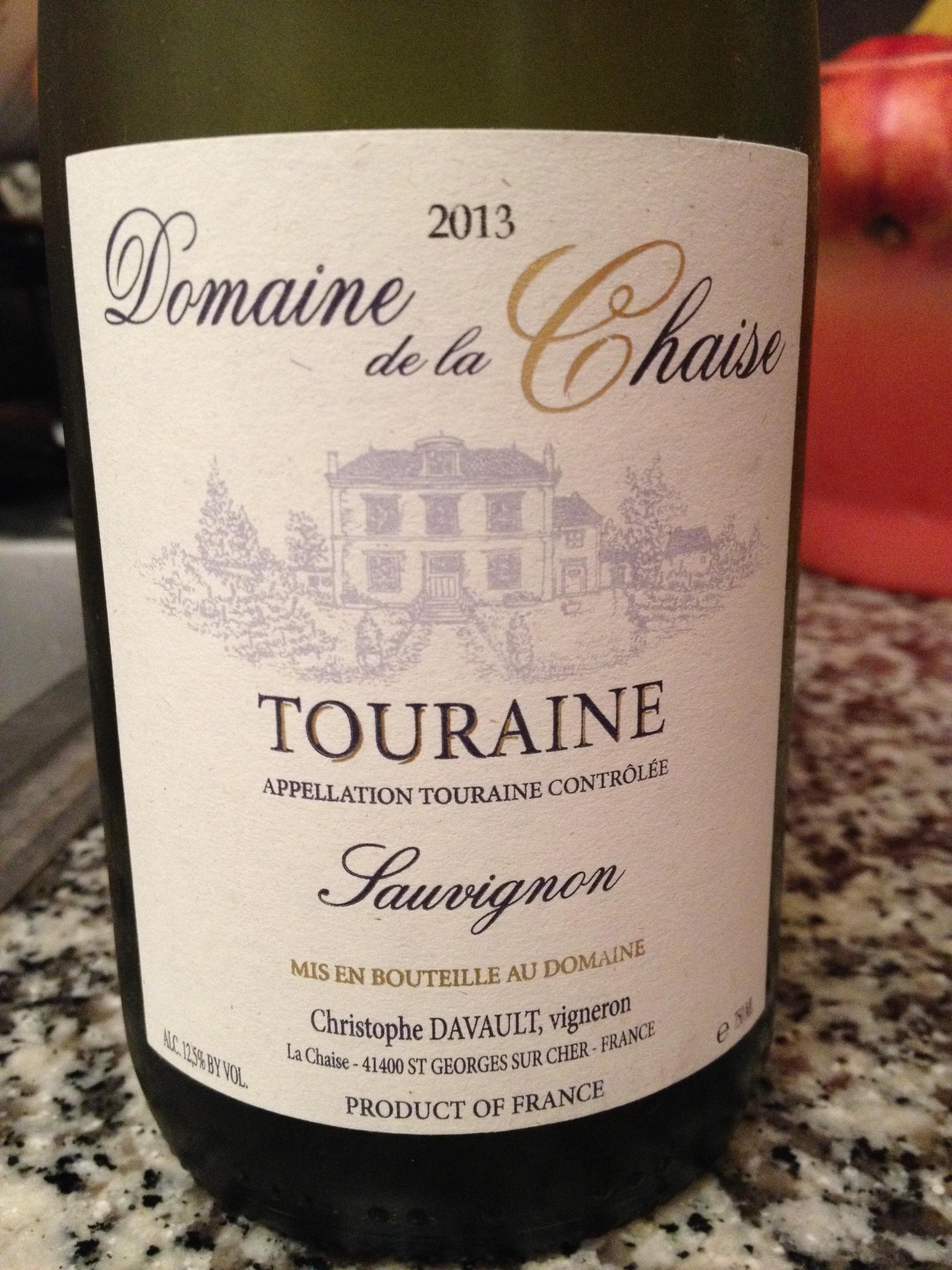 2013 domaine de la chaise sauvignon blanc touraine france. Black Bedroom Furniture Sets. Home Design Ideas