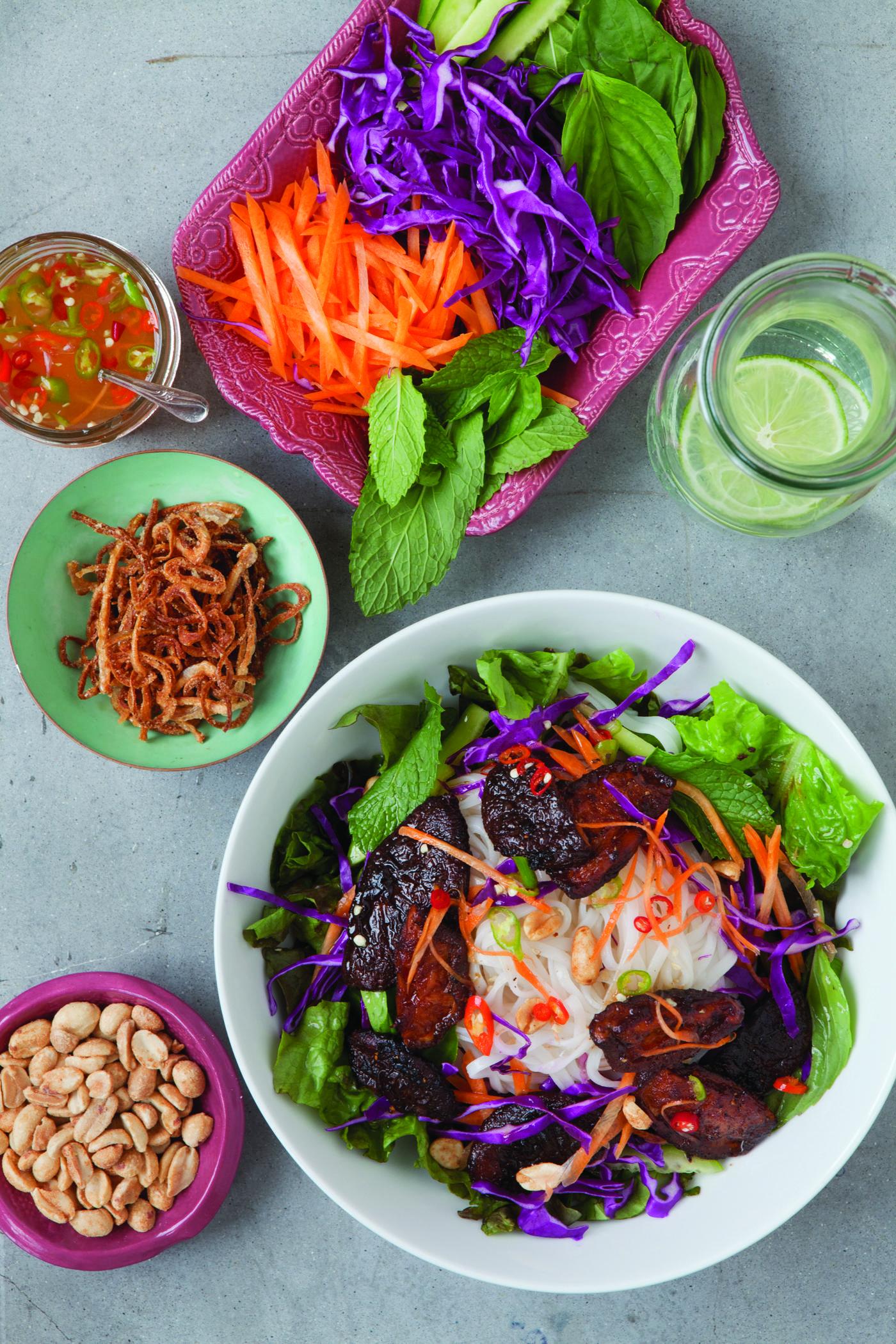Siitake Noodle Salad