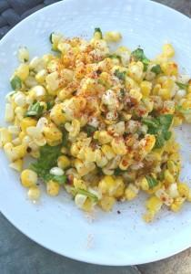 Corn Salad with Finger Lime and Wild Arugula | Eat Something Sexy